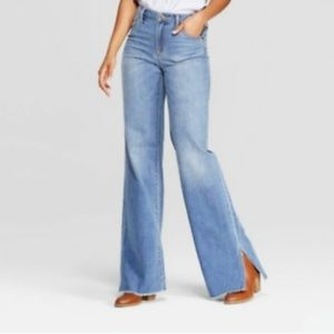 Universal thread high rise wide leg bohemian jeans